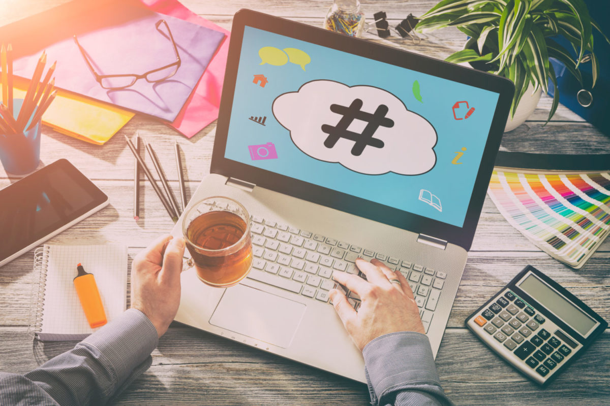 Learning how hashtags work for blogs, articles and social media.