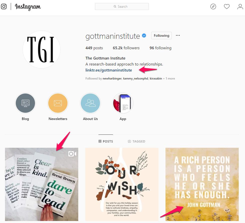 John Gottman Instagram feed.