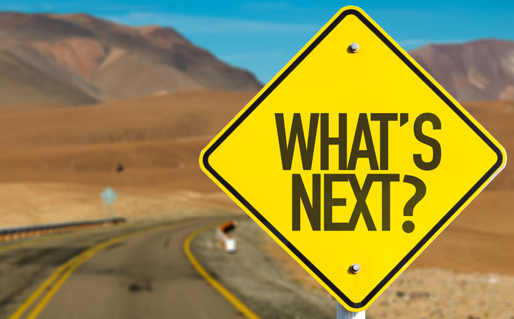 Road sign for what's next- digital marketing trends for 2019.