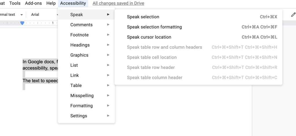 Using a text to speech editor in Google.