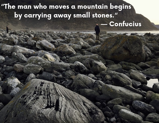 motivational quotes people standing on stones