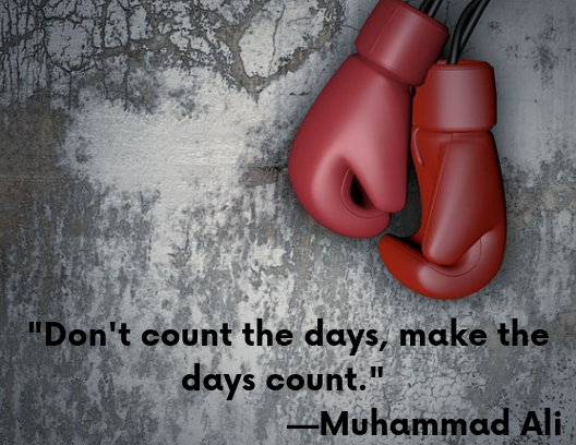 motivational quotes, red boxing gloves