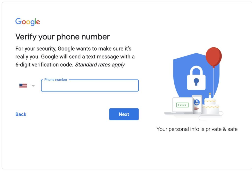 Step 2 for how to create a Gmail account.