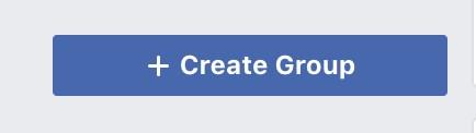 Create Facebook Group button.