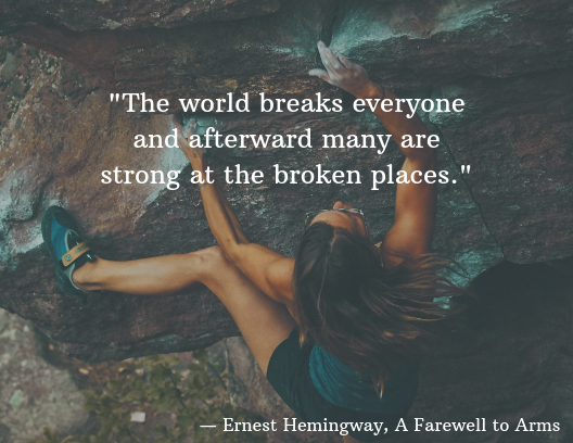 mental health quotes, Ernest Hemingway