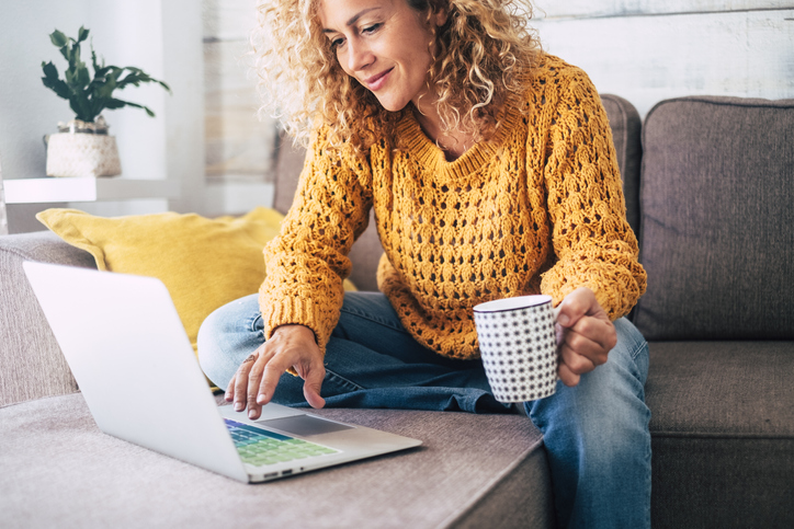 Female small business owner learning to create new content using hacks for her busy life.