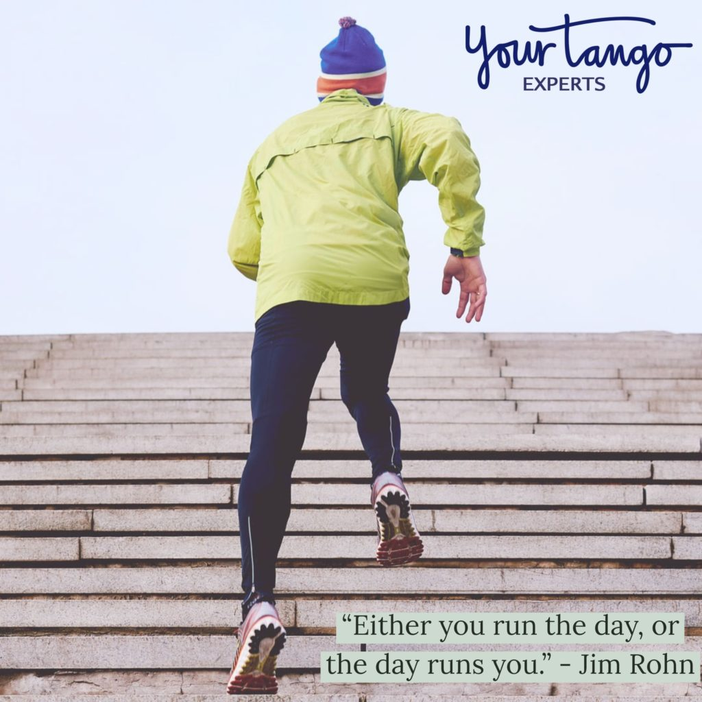 Jim Rohn quote on running the day.
